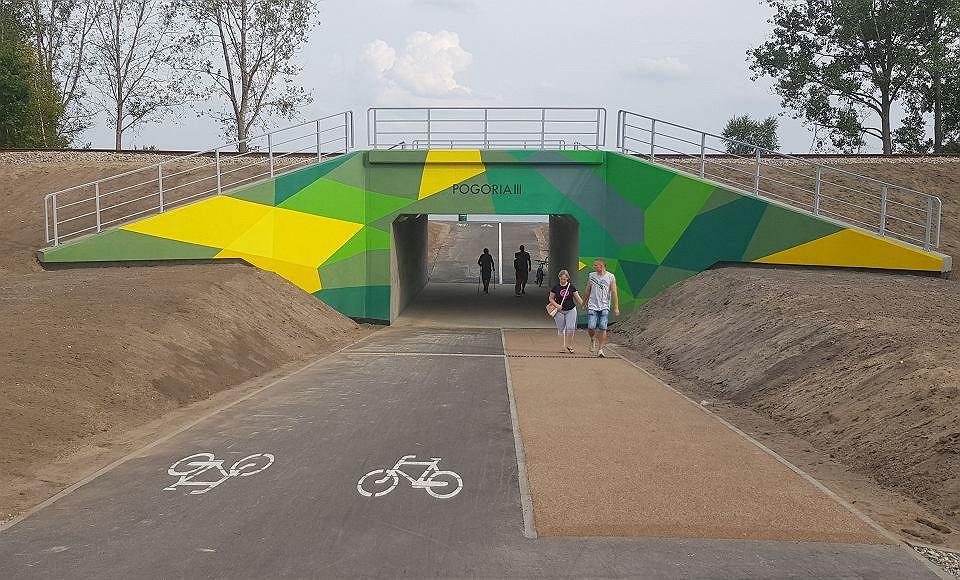 Tunel pieszo-rowerowy prowadzący na Pogorię III w Dąbrowie Górniczym były mocnym kandydatem do wygrania w kategorii 'inwestycja roku'. Powstał jednak za 'wcześnie', bo w 2019 roku