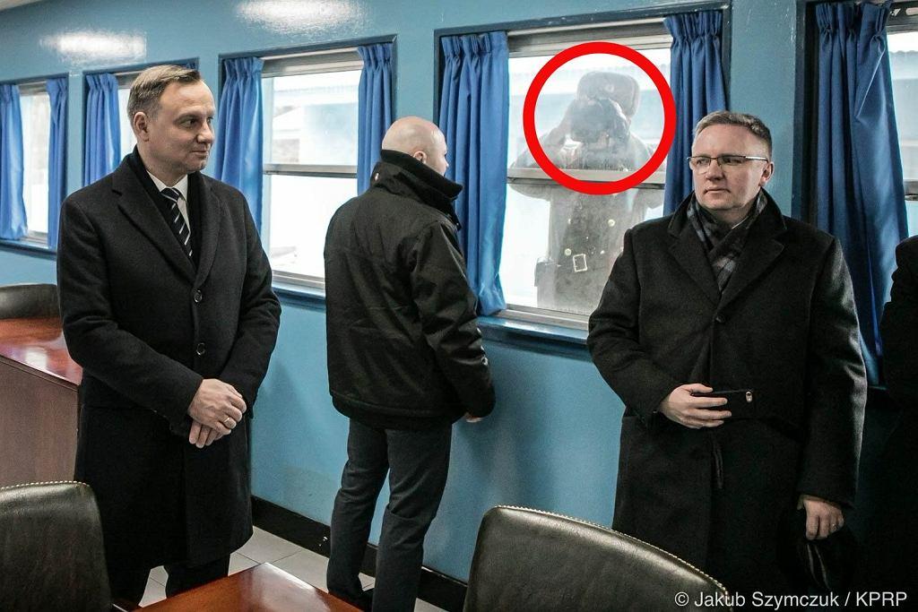 Prezydent Andrzej Duda w koreańskiej strefie zdemilitaryzowanej