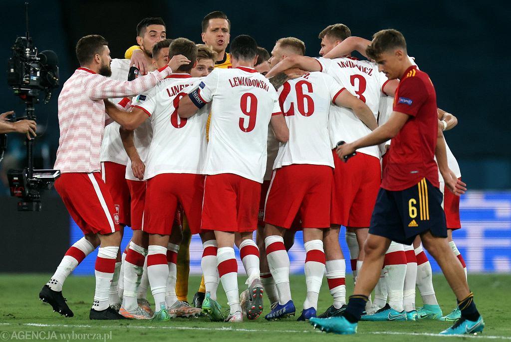 Piłkarze po meczu Polska - Hiszpania na Euro 2020