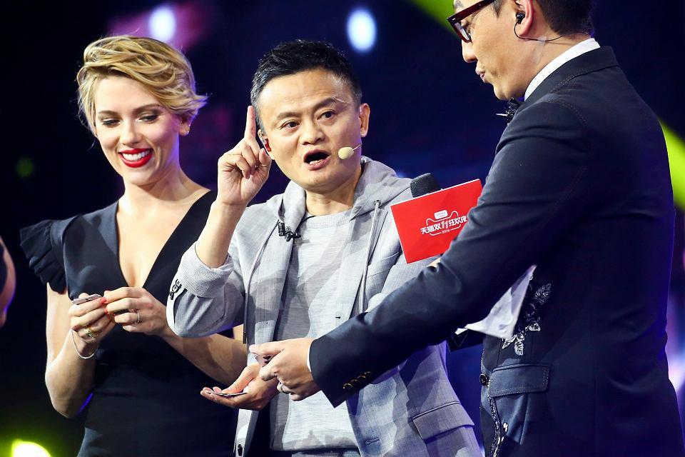 Scarlett Johansson i szef Alibaba Group Jack Ma, Dzień Singla w Chinach