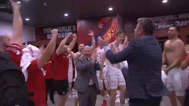 Radość w szatni reprezentacji Polski po meczu z Rosją