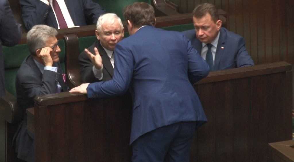 Jarosław Kaczyński zganił Dominika Tarczyńskiego