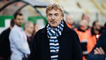 Trening polskiej reprezentacji na Stadionie Energa przed meczem Polska - Czechy w Gdańsku. Zbigniew Boniek