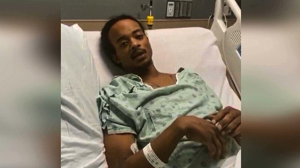 Jacob Blake, który został siedmiokrotnie postrzelony przez policjanta