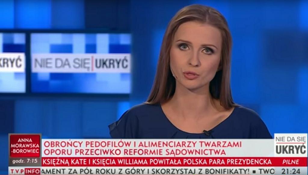 Ewa Bugała i ohydna belka TVP Info