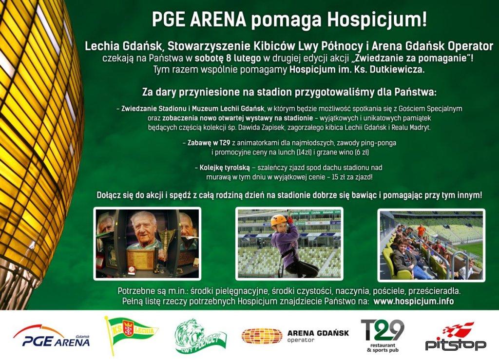 PGE Arena pomaga hospicjum