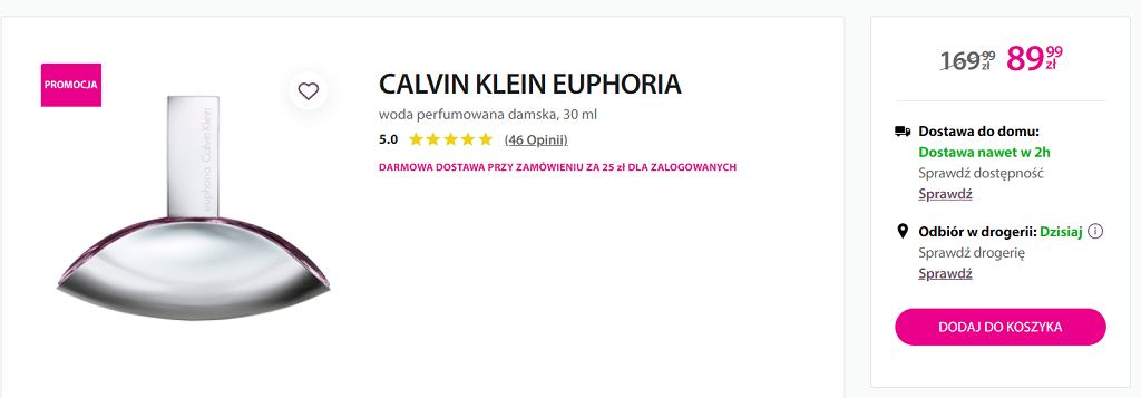 Perfumy Clavin Klein