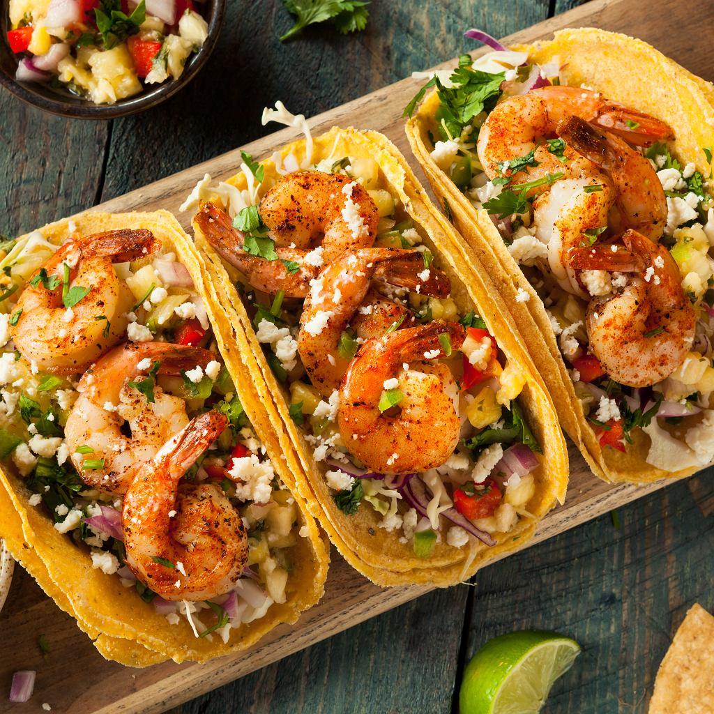 Tacos z pikantnymi krewetkami