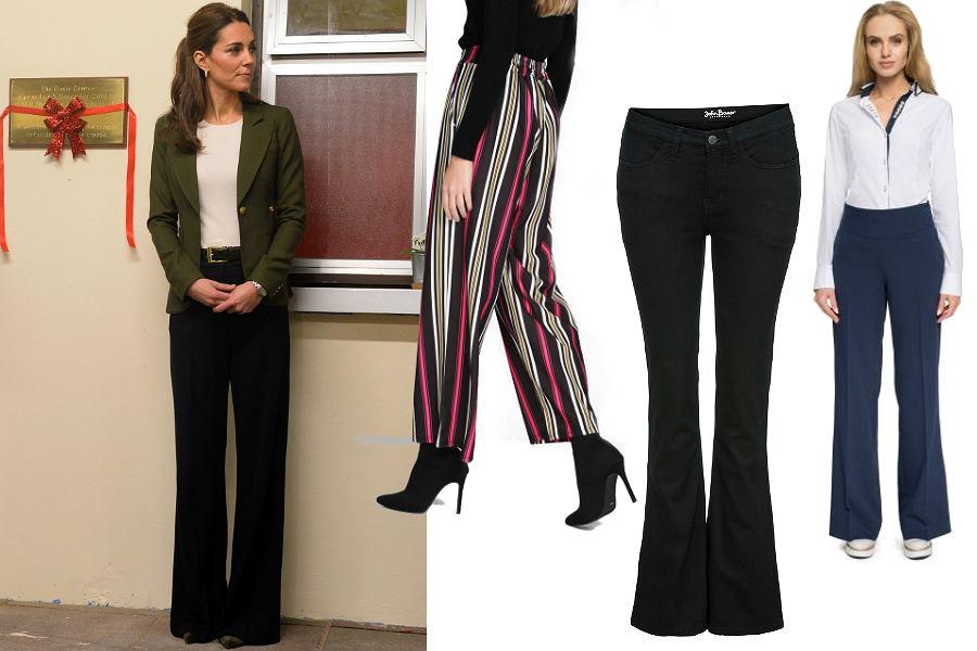 Spodnie o szerokich nogawkach