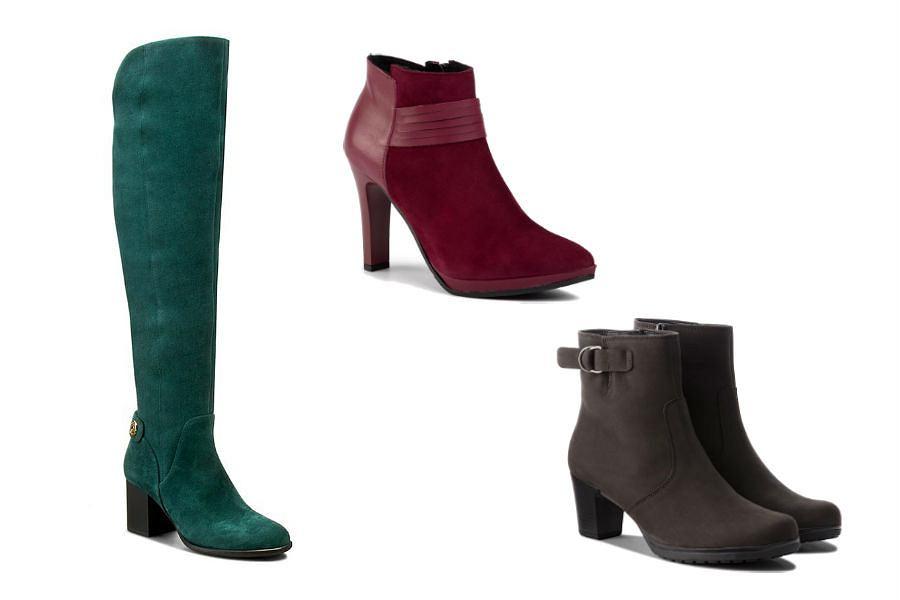 Zimowe buty damskie na obcasie