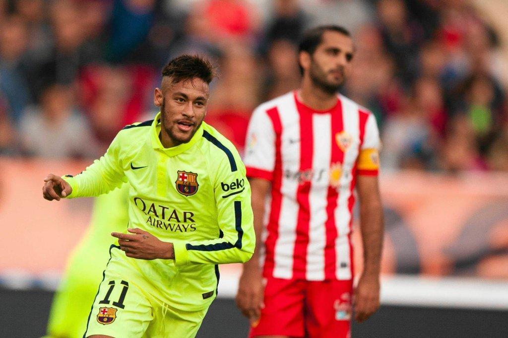 Almeria - Barcelona. Neymar