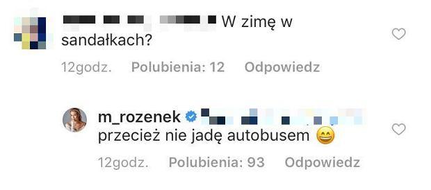 Małgorzata Rozenek odpowiada internaucie