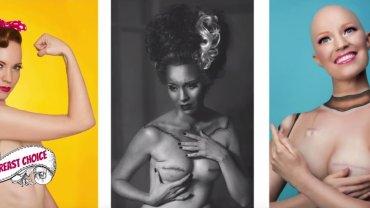 """Zdjęcia z serii """"My Breast Choice"""" to zapis emocji, jakie towarzyszyły Anieli McGuiness na różnych etapach walki z rakiem piersi."""