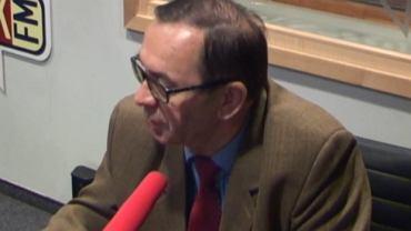 Prof. Kik w studiu radia TOK FM