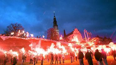 Styczeń 2013 r. Ogólnopolska pielgrzymka kibiców na Jasną Górę