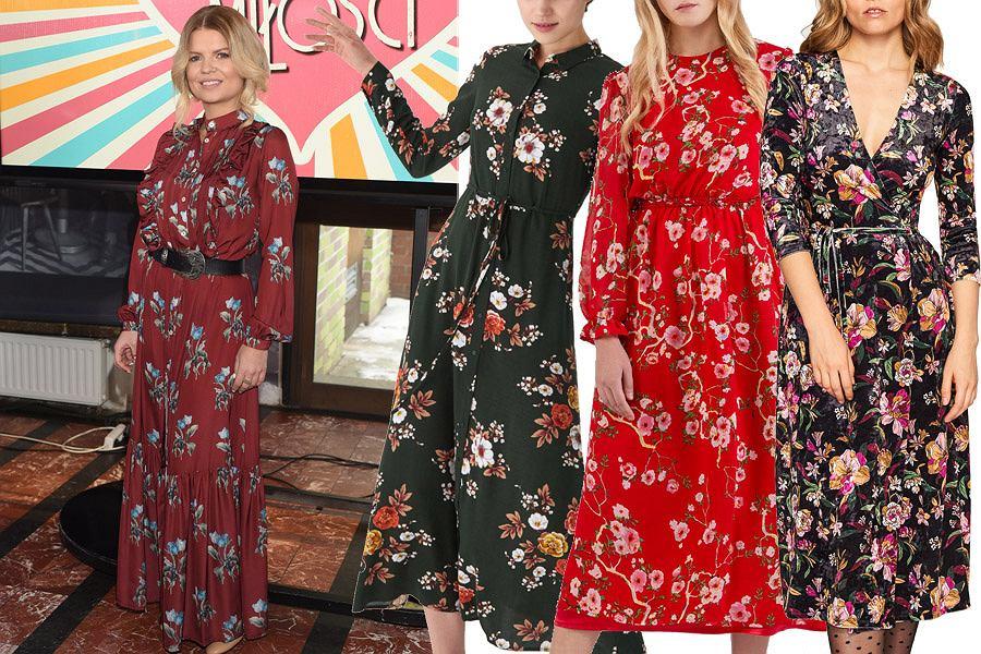 sukienki w kwiaty / mat. partnera