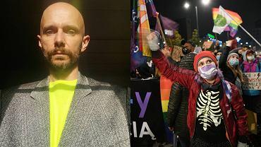 Wojtek Blecharz, protesty kobiet