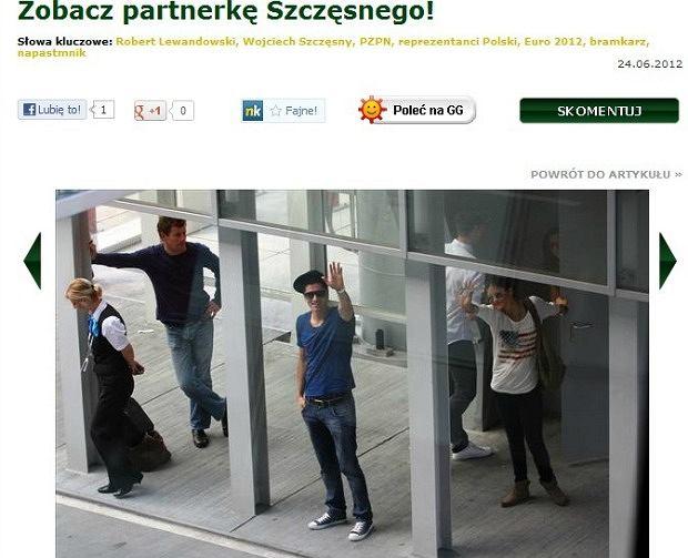 Robert Lewandowski, Wojtek Szczęsny i Sandra Dziwiszek na lotnisku