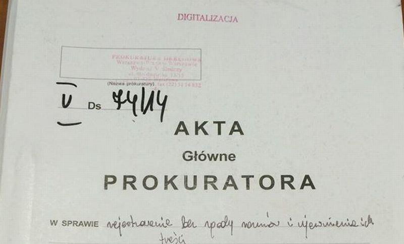 Akta prokuratorskie ujawnione przez Zbigniewa Stonogę
