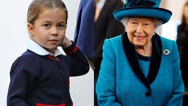 Królowa Elżbieta II i  księżniczka Charlotte