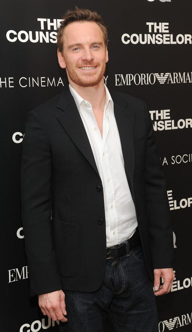 "Actor Michael Fassbender attends a special screening of ""The Counselor"" hosted by The Cinema Society, Emporio Armani and GQ at the Crosby Street Hotel on Wednesday, Oct. 9, 2013 in New York. (Photo by Evan Agostini/Invision/AP)"