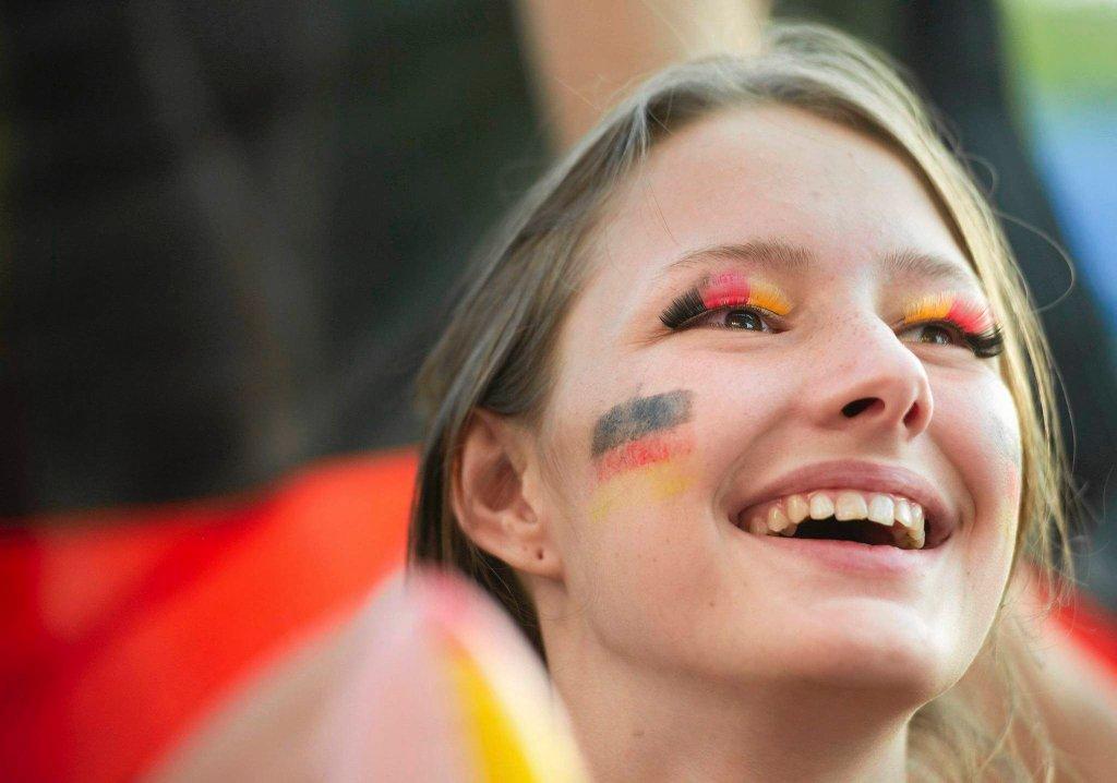 Radosna fanka reprezentacji Niemiec