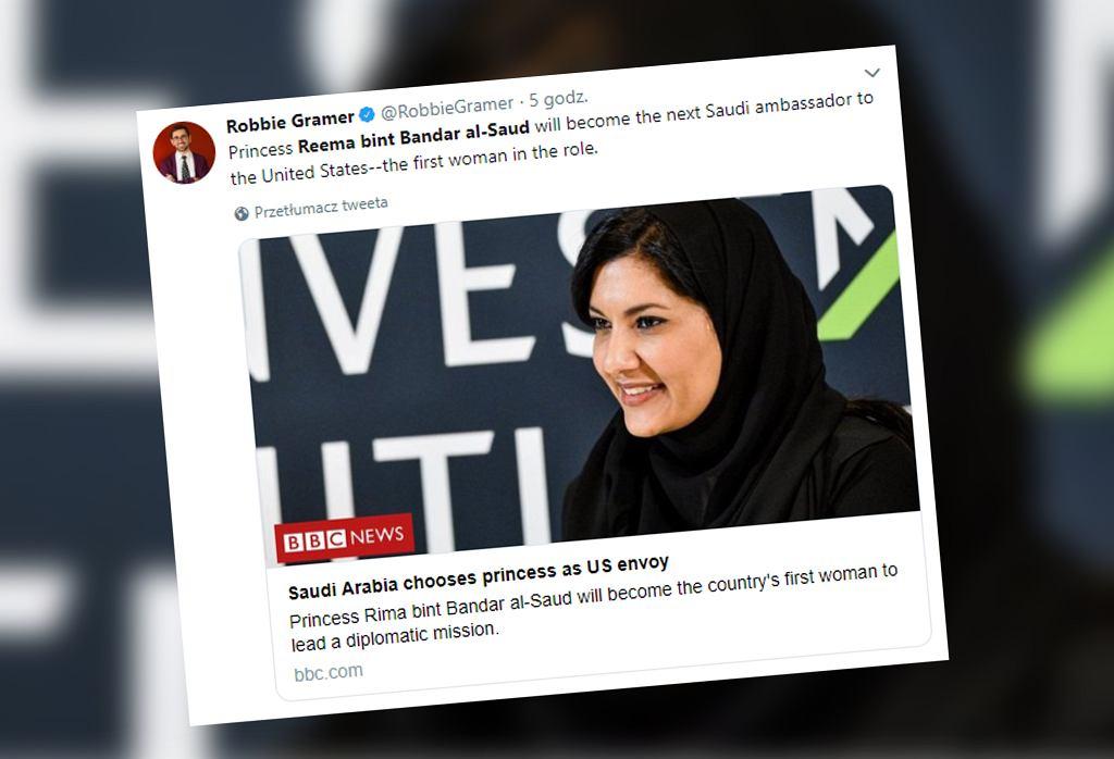 Saudyjska księżniczka została ambasadorem Arabii Saudyjskiej w USA