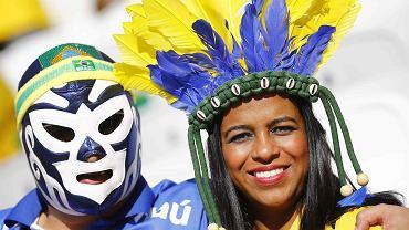 Brazylijscy kibice podczas meczu otwarcia mundialu między Brazylią i Chorwacją
