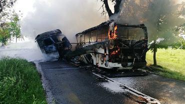 Wypadek między Pieniężnem a Cieszętami 27 maja 2018
