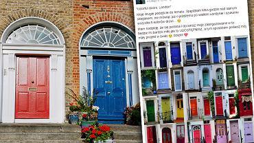 Polska fotografka Anna Pajerska w swoim projekcie 'colorful doors, London' pokazała stolicę Wielkiej Brytanii z innej perspektywy