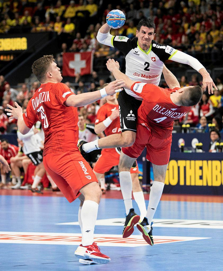 Goteborg, 12 stycznia 2020. Mistrzostwa Europy w piłce ręcznej. Mecz Polska - Szwajcaria (24:31)