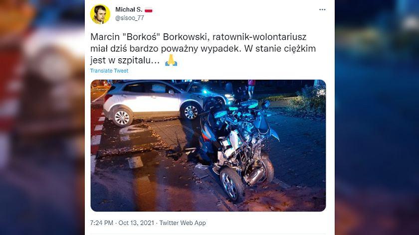 Marcin 'Borkoś' Borkowski - wypadek