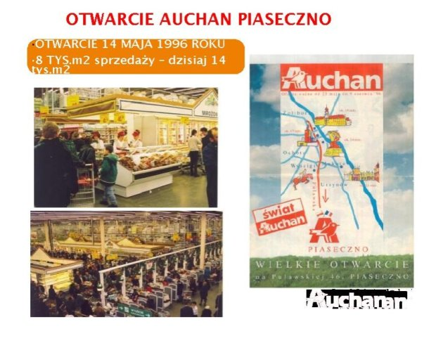 Z okazji otwarcia pierwszego sklepu Auchan powstała specjalna gazetka.