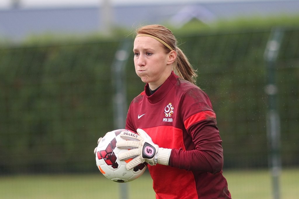 Katarzyna Kiedrzynek podczas treningu reprezentacji Polski kobiet