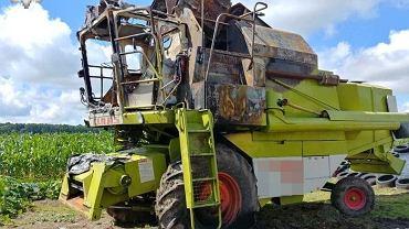 Spalony ciągnik