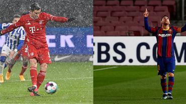 Robert Lewandowski (Bayern Monachium) i Lionel Messi (Barcelona)