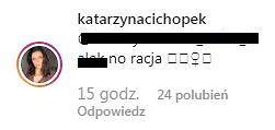 Komentarz Kasi Cichopek