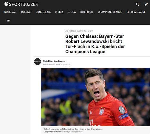 Sportbuzzer o Robercie Lewandowskim