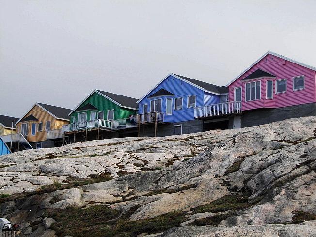 Grenlandia, kolorowe domki wIlulissat