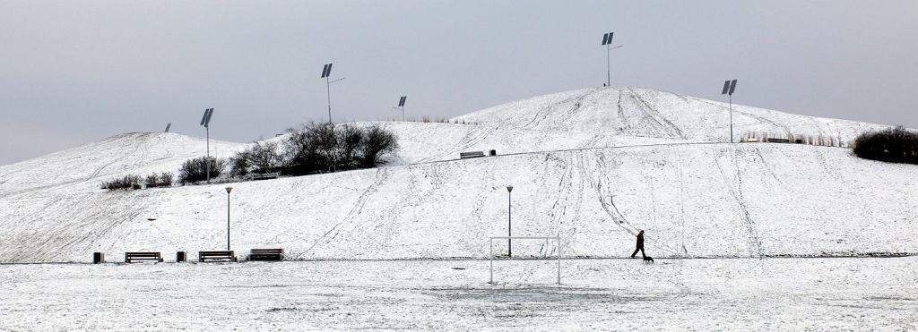 Zima na Ursynowie w Warszawie