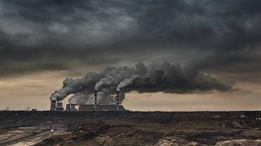 Niebo nad Elektrownią Bełchatów