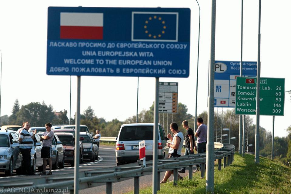 Polsko-ukraińskie przejście graniczne Hrebenne-Rawa Ruska.