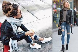 Jak nosić skórzaną kurtkę zimą - sportowe zestawy z pazurem