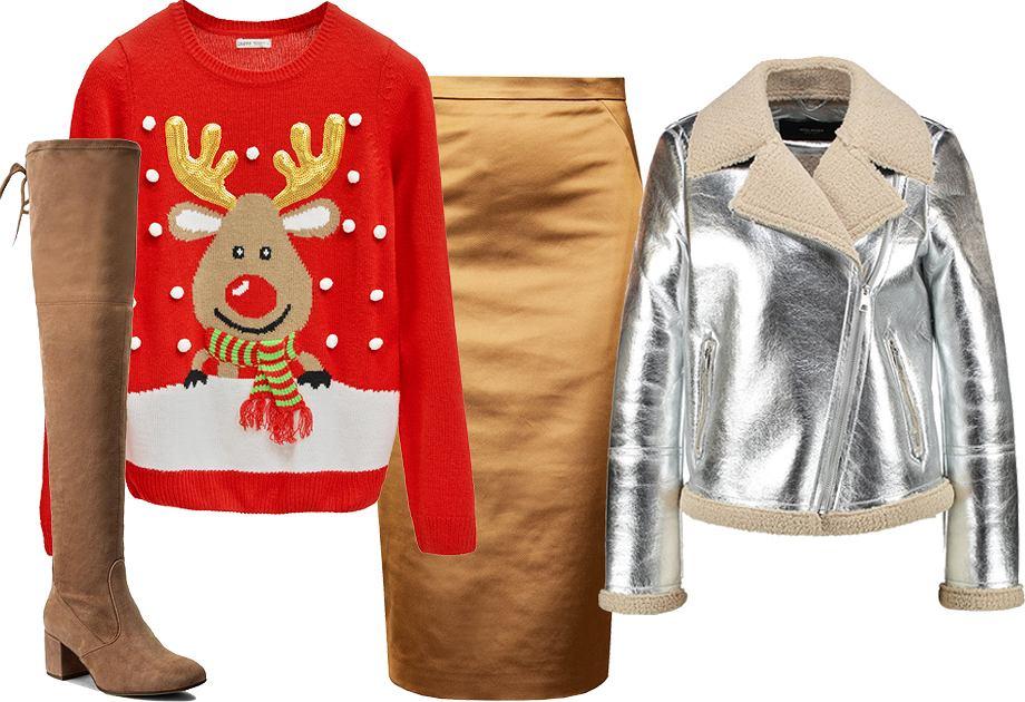 Sweter świąteczny - stylizacja