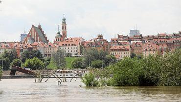 Fala kulminacyjna na Wiśle dotrze dziś do Warszawy. RCB ostrzega Mazowsze