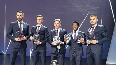 Piłkarze Piasta Gliwice z nagrodami rozdanymi podczas Gali Ekstraklasy
