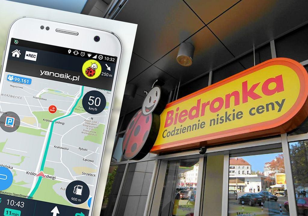 Biedronka i Yanosik przetestowały nową funkcję
