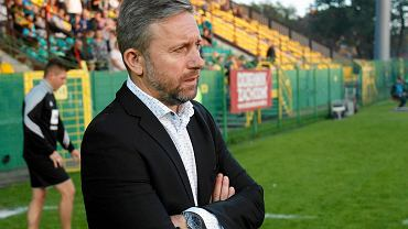 Jerzy Brzęczek podczas meczu GKS Katowice - Stal Mielec (1:0)
