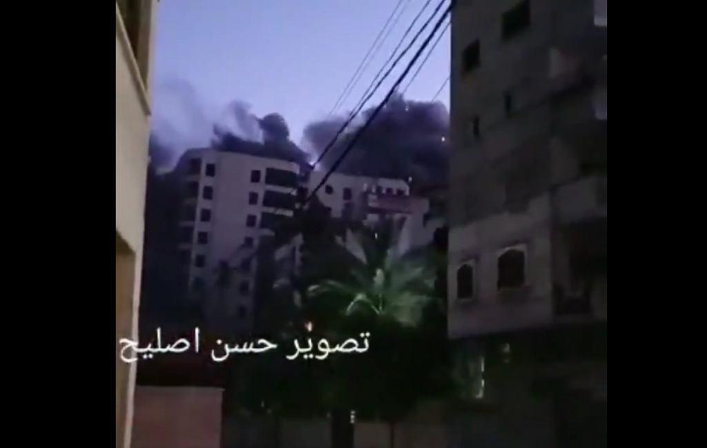 Zawalił się wieżowiec mieszkalny w Strefie Gazy