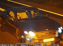 Bentleyem przekroczył prędkość w zabudowanym o prawie 100 km/h. Inspektor nie odpuścił